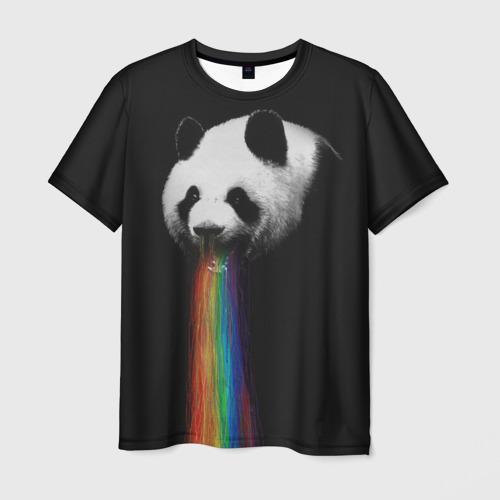 Мужская футболка 3D Радужная панда