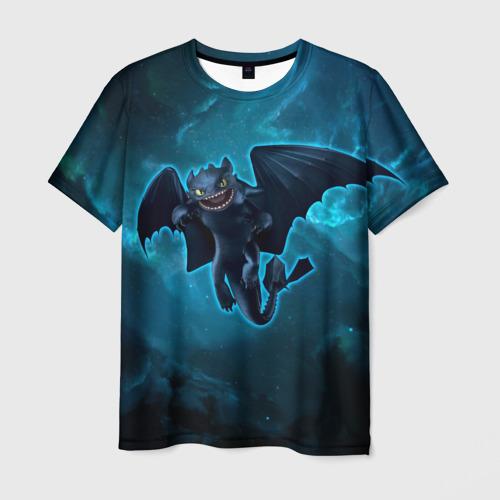 Мужская футболка 3D Night Fury
