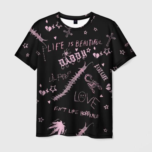 Мужская футболка 3D LIL PEEP - Life Is Beautiful