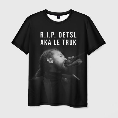 Мужская футболка 3D RIP Detsl aka Le Truk
