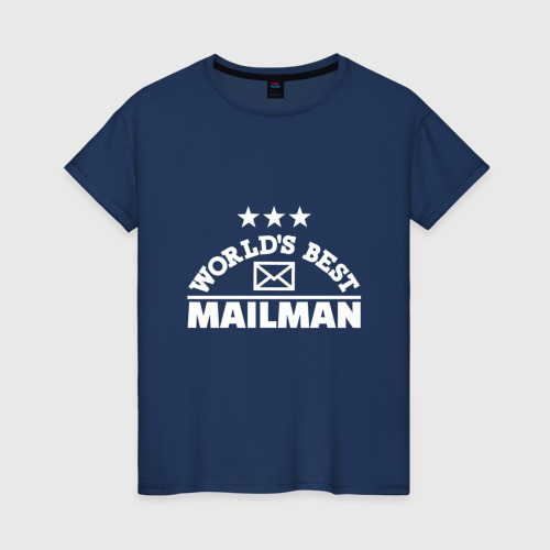 Женская футболка хлопок Лучший потальон в мире
