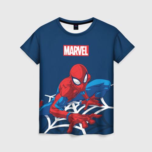 Женская футболка 3D Spider Man