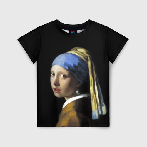 Детская футболка 3D Девушка с серьгой