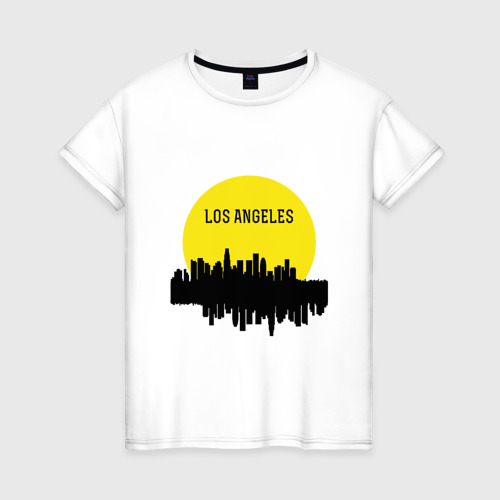 Женская футболка хлопок Los Angeles - USA