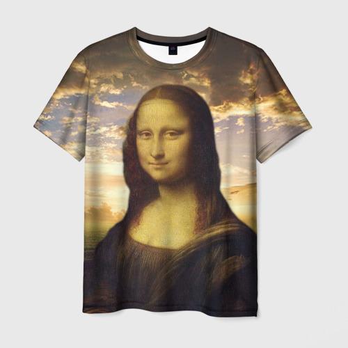 Мужская футболка 3D Мона Лиза