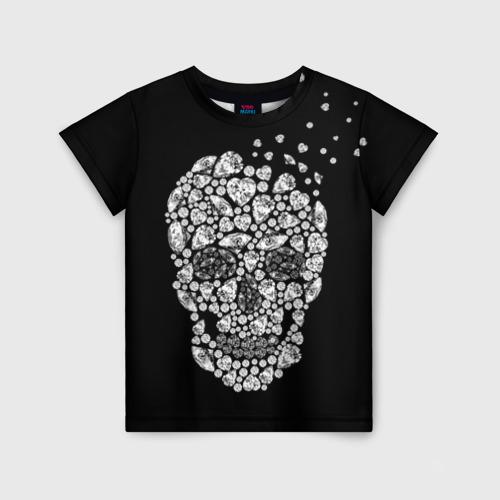 Детская футболка 3D Diamond skull