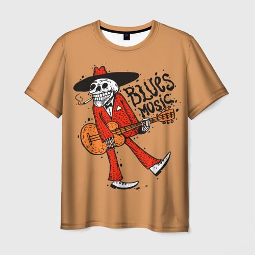 Мужская футболка 3D Blues music
