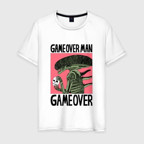 Мужская футболка хлопок Alien game over Чужой