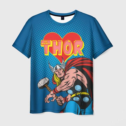 Мужская футболка 3D Thor love