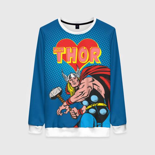 Женский свитшот 3D Thor love