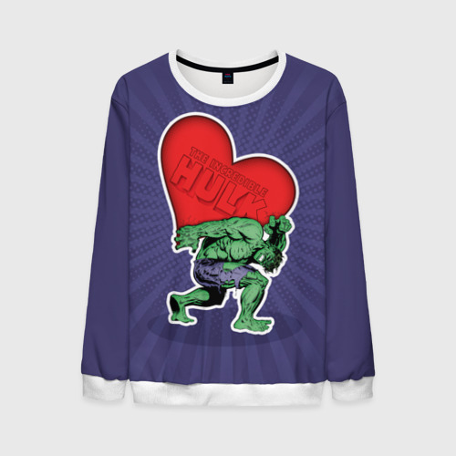 Мужской свитшот 3D Hulk love