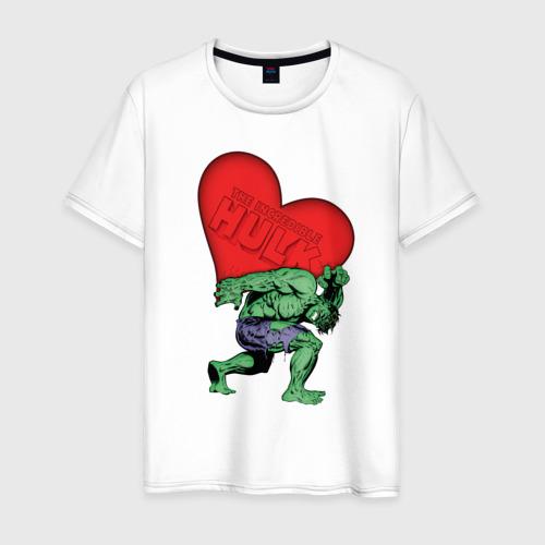 Мужская футболка хлопок Hulk heart