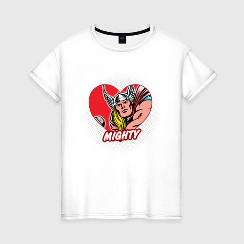 Женская футболка хлопок Thor heart