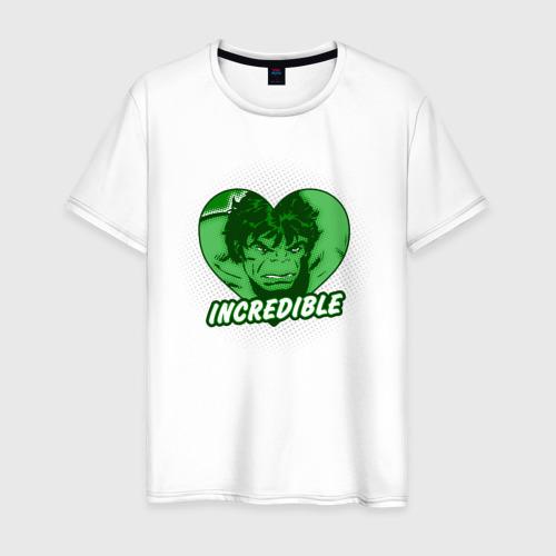 Мужская футболка хлопок Hulk incredible heart