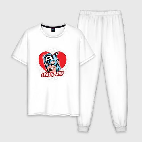 Мужская пижама хлопок Capt. America legendary heart