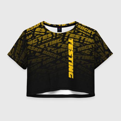 Женская футболка Crop-top 3D ASAP ROCKY