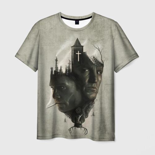 Мужская футболка 3D True Detective