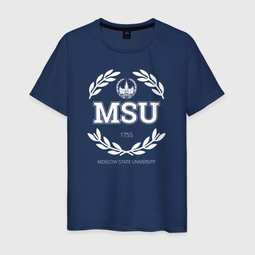 Мужская футболка хлопок MSU