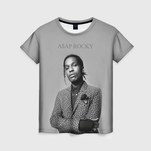 Женская футболка 3D A$AP ROCKY