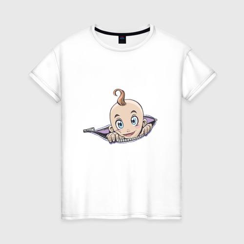 Женская футболка хлопок Ребенок