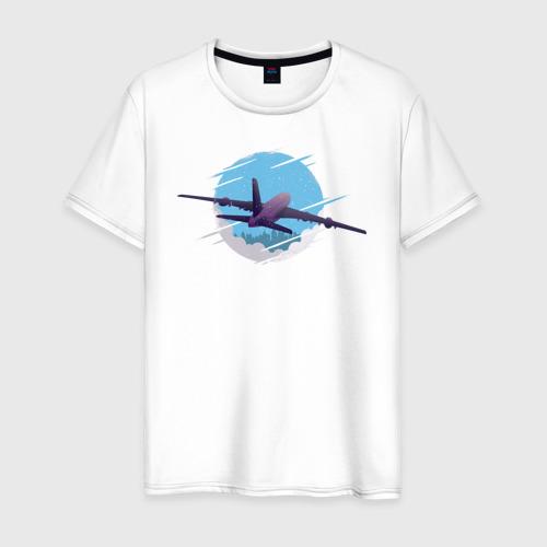 Мужская футболка хлопок Самолет