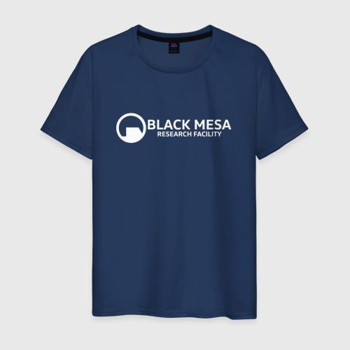 Мужская футболка хлопок HALF-LIFE   BLACK MESA