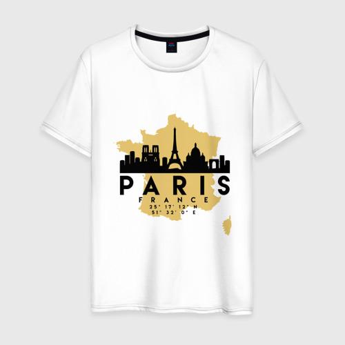 Мужская футболка хлопок Париж - Франция