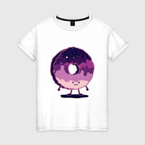 Женская футболка хлопок Space Donut