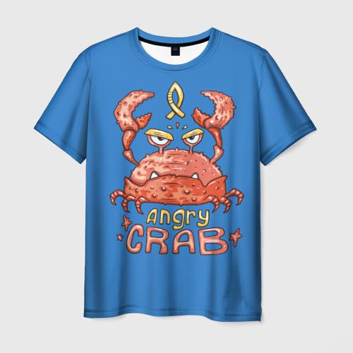 Мужская футболка 3D Hungry crab