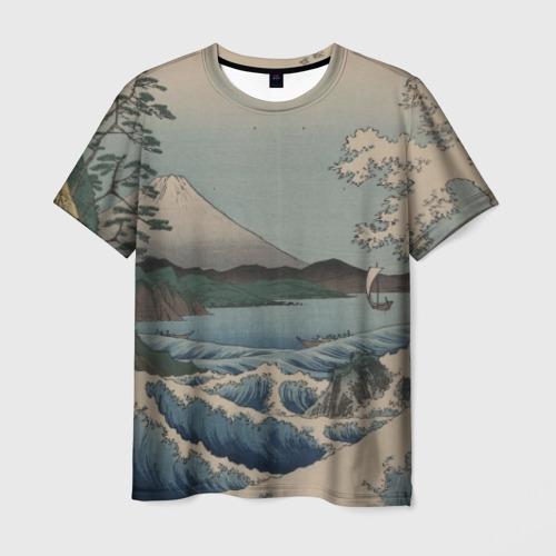 Мужская футболка 3D Утагава Хиросигэ