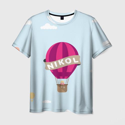 Мужская футболка 3D Nikol Baloons