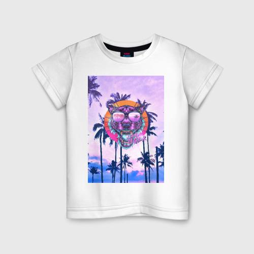Детская футболка хлопок Майами Тигр