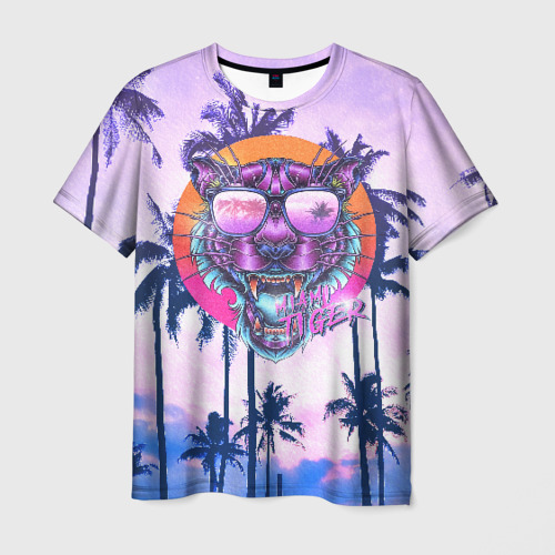Мужская футболка 3D Майами Тигр