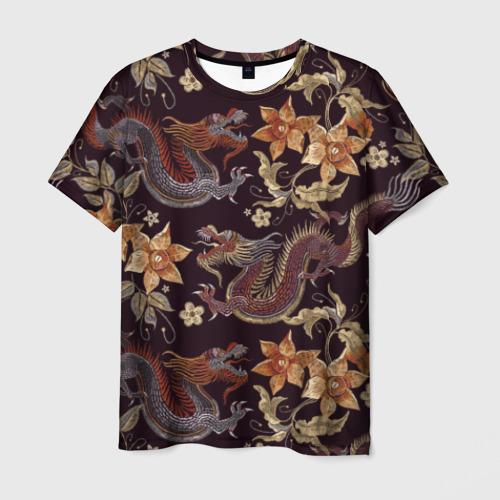 Мужская футболка 3D Японские драконы