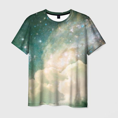 Мужская футболка 3D Облачный космос