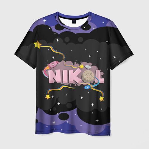 Мужская футболка 3D Nikol space