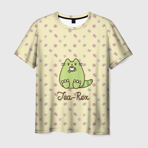 Мужская футболка 3D Pusheen Tea-Rex