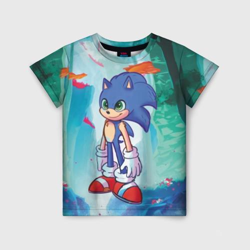 Детская футболка 3D Ежик Соник