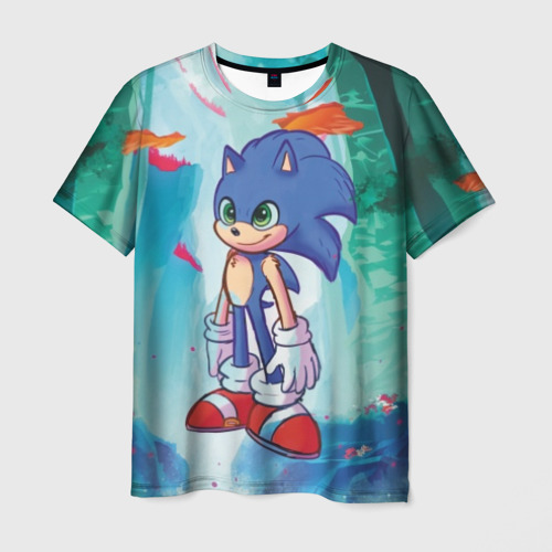 Мужская футболка 3D Ежик Соник
