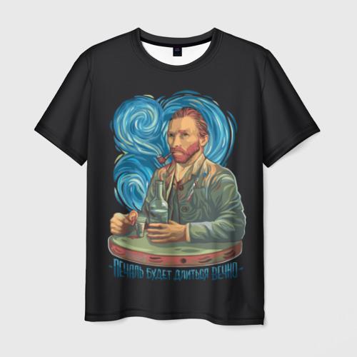 Мужская футболка 3D Ван Гог