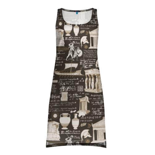 Платье-майка 3D Греческий орнамент