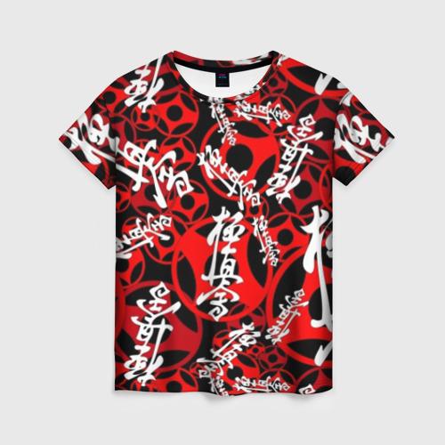 Женская футболка 3D Каратэ киокушинкай