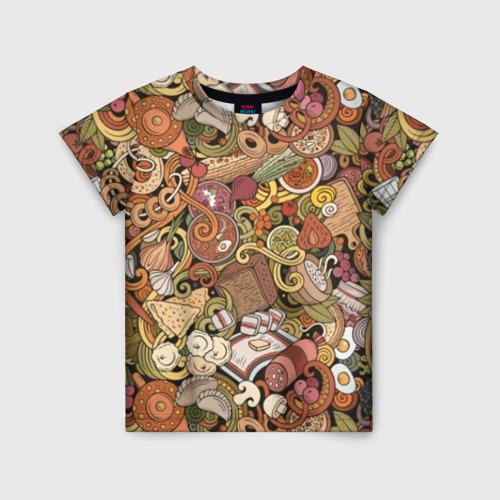 Детская футболка 3D Русская еда