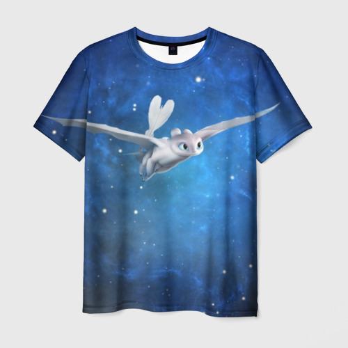 Мужская футболка 3D Light Fury