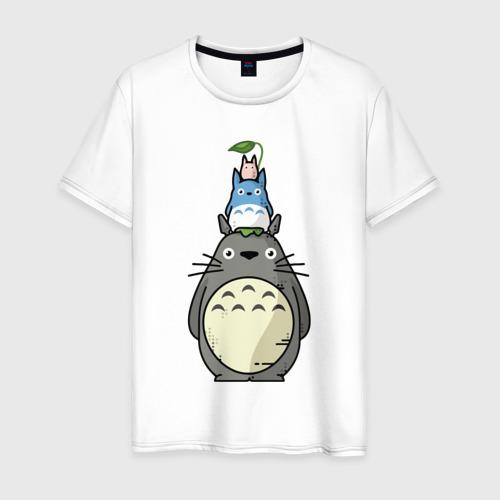 Мужская футболка хлопок Башня из Тоторо