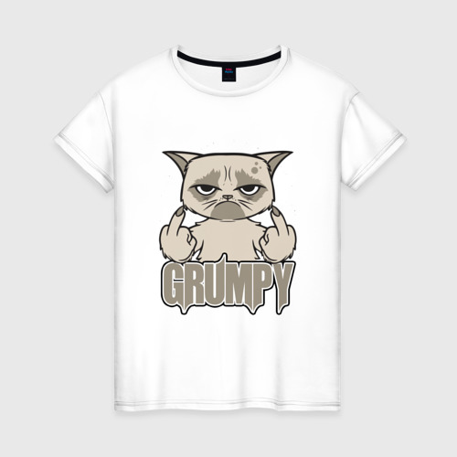 Женская футболка хлопок Grumpy Cat