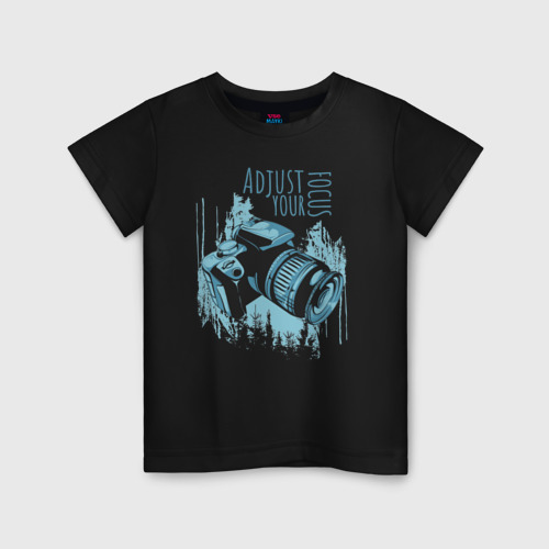 Детская футболка хлопок Фотограф