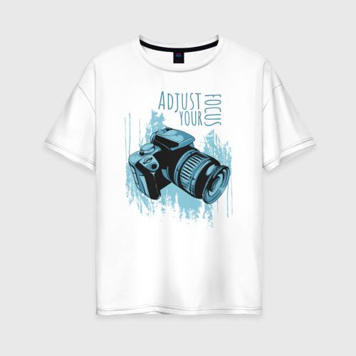 Женская футболка хлопок Oversize Фотограф