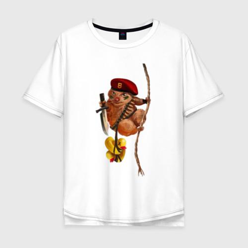 Мужская футболка хлопок Oversize Боевой Хомяк