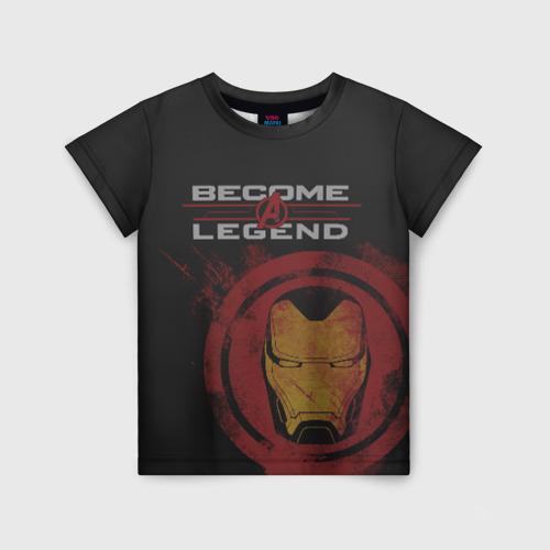 Детская футболка 3D Iron Man become a legend